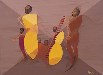 Mango Jazz Art Print by Kaaria Mucherera