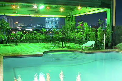 Mango Park Hotel Roof Top Pool Print by James BO  Insogna