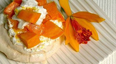 Photograph - Mango Pavlova by James Temple