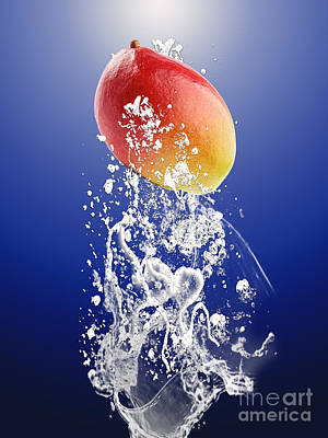 Mango Splash Art Print by Marvin Blaine