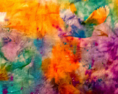 Painting - Mango Tango Abstract by Nikki Dalton