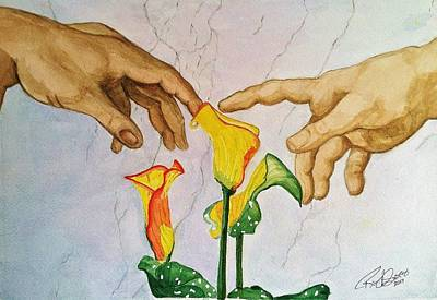 Painting - Man, God...and Calla Lilies by Rand Swift