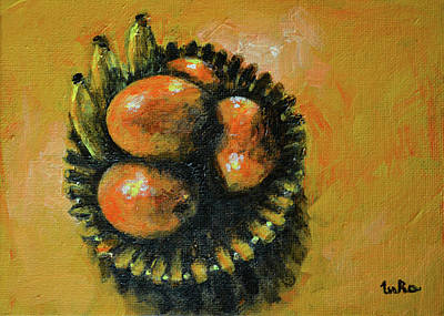 Painting - Mangoes And Bananas by Usha Shantharam
