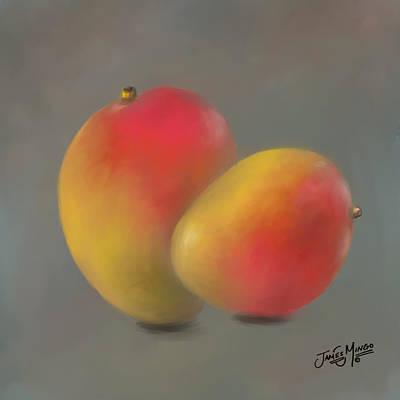 Mango Mixed Media - Mangoes by James  Mingo