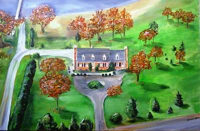 Painting - Mangold House In Maryland by Bryan Bustard