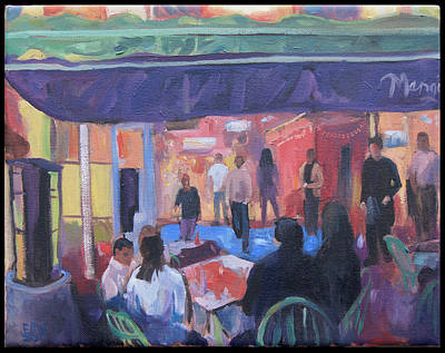Edward Williams Painting - Mango's At Southbeach by Edward Williams