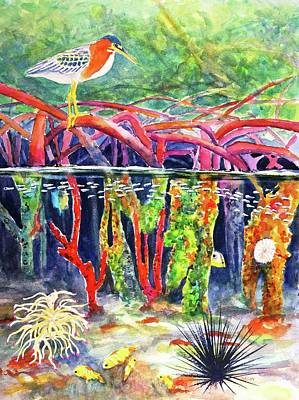 Painting - Mangrove Above And Below by Carlin Blahnik CarlinArtWatercolor