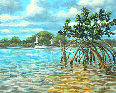 Wall Art - Painting - Mangrove Alley by Guy Crittenden