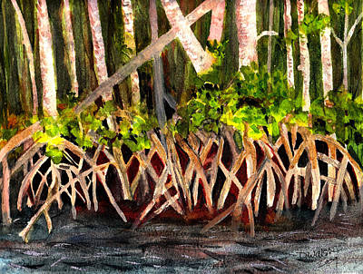 Nature Center Painting - Mangrove At Gumbo Limbo by Donna Walsh