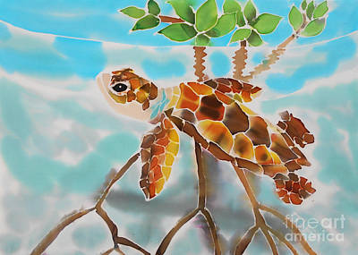 Painting - Mangrove Baby Turtle by Tiff