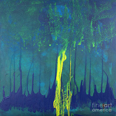Contemporary Abstract Painting - Mangrove Mood by Nickola McCoy-Snell
