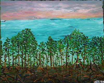 Tree Roots Painting - Mangrove by Peter Nervo