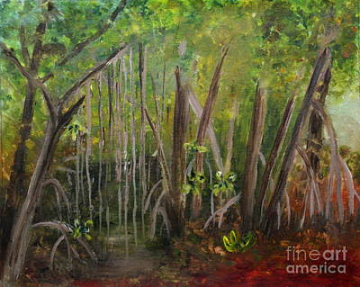 Nature Painting - Mangroves At Rutherford Park by Donna Walsh