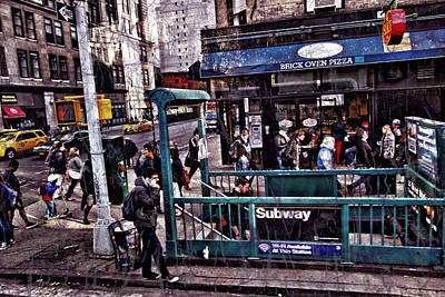 Digital Art - Manhattan 14th Street by Joan Reese