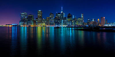 Photograph - Manhattan After Dark by Chris Lord