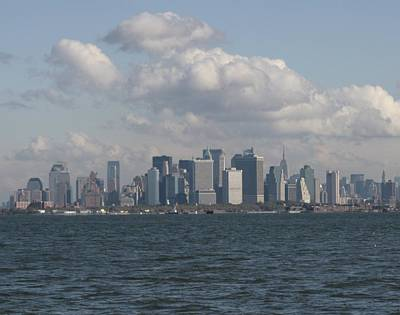Photograph - Manhattan And Governors Island by Christopher Kirby
