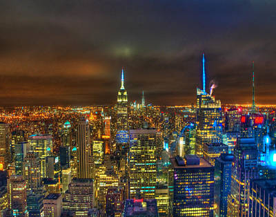 Photograph - Manhattan At Night 355 by Jeff Stallard