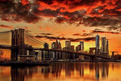Brooklyn Bridge Photograph - Manhattan Bbq by Az Jackson