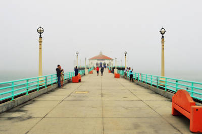 Photograph - Manhattan Beach Pier On A Foggy Morning by Glenn McCarthy