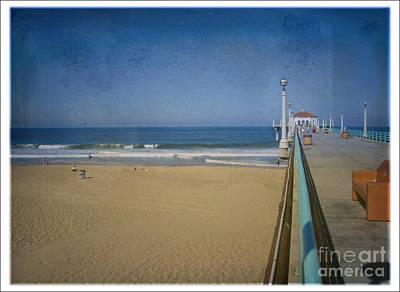 Photograph - Manhattan Beach Pier Back Then by David Zanzinger