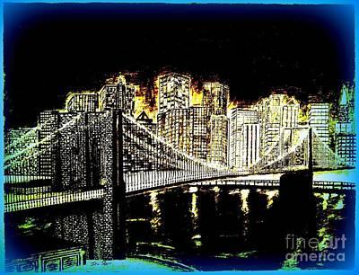 Manhattan Blues Art Print
