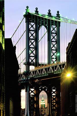 Manhattan Bridge And Empire State Building Original by Mark Ivins