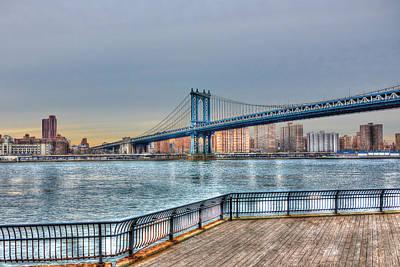 Manhattan Bridge At Dusk Original by Randy Aveille