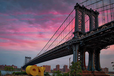 Photograph - Manhattan Bridge At Sunrise  by Emmanuel Panagiotakis