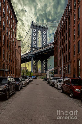 Photograph - Manhattan Bridge by Franz Zarda
