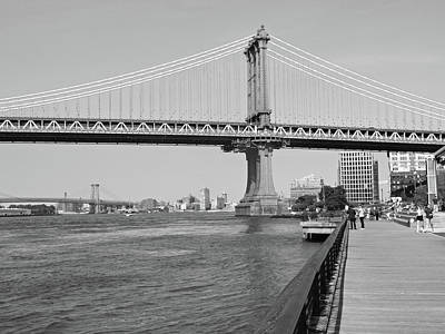 Photograph - Manhattan Bridge From Brooklyn Bridge Park by Emmy Vickers