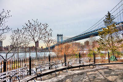 Manhattan Bridge From Brooklyn Bridge Park Original by Randy Aveille