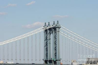 Photograph - Manhattan Bridge From The Brooklyn Bridge by John Telfer
