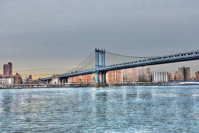 Manhattan Bridge From The East River Original by Randy Aveille