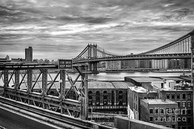 Park Scene Photograph - Manhattan Bridge by John Farnan