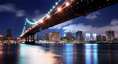 Photograph - Manhattan Bridge by Johnny Sandaire