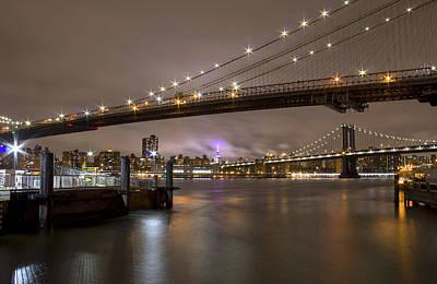 Manhattan Bridge  Art Print by Kelly's Eye