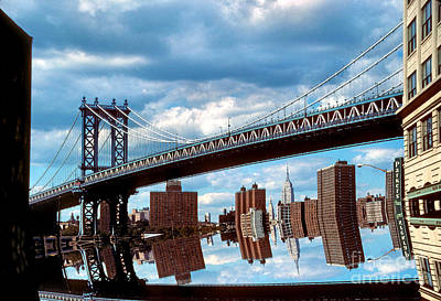Photograph - Manhattan Bridge by Mark Gilman