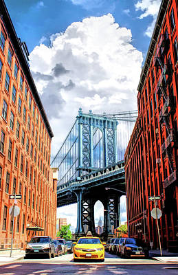 Painting - Manhattan Bridge New York City by Christopher Arndt