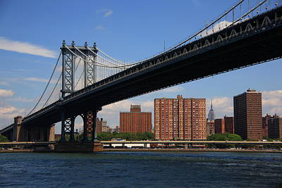 Photograph - Manhattan Bridge - New York City by Frank Romeo