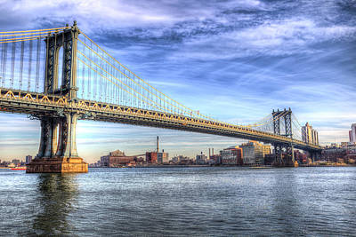 Photograph - Manhattan Bridge New York by David Pyatt