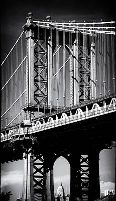 Empire State Building Digital Art - Manhattan Bridge Noir by Jessica Jenney