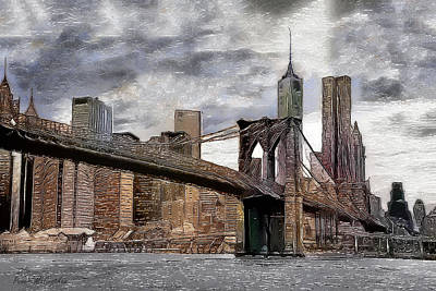 Digital Art - Manhattan Bridge by Pennie McCracken