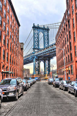 Manhattan Bridge Portrait From Dumbo Original