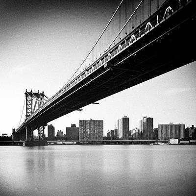 Building Exterior Photograph - Manhattan Bridge by Randy Le'Moine