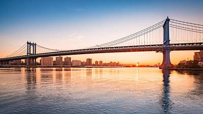 Photograph - Manhattan Bridge Sunrise by Mihai Andritoiu