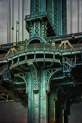 Photograph - Manhattan Bridge Tower by Chris Lord