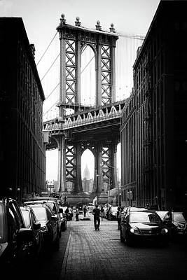 Empire State Building Digital Art - Manhattan Bridge View by Jessica Jenney