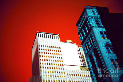 Photograph - Manhattan Building Colors Pop Art by John Rizzuto