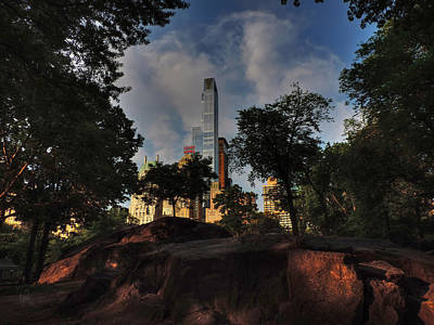 Hyatt Hotel Photograph - Manhattan - Central Park 002 by Lance Vaughn