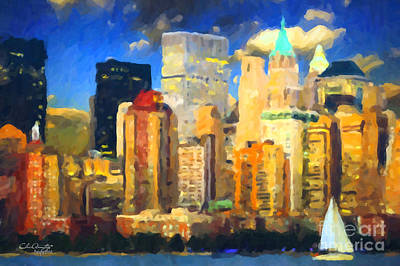 Painting - Manhattan by Chris Armytage